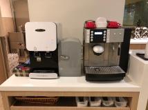 Water and Coffee Machine (UHT milk) (Photo: MainlyMiles)