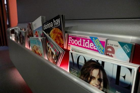 Qantas A380 First Class Lounge Magazines