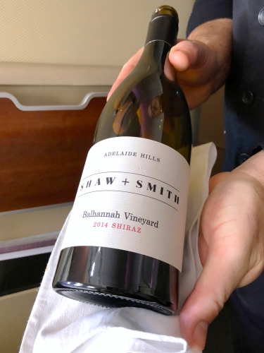 Qantas A380 First Class Wine