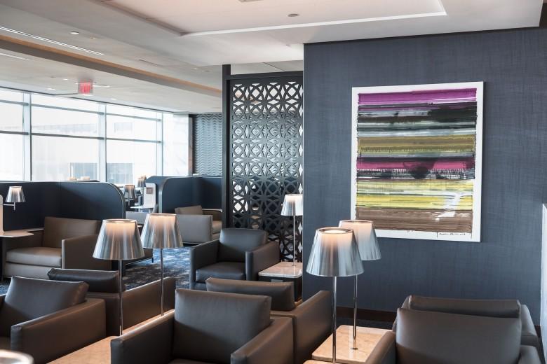United Polaris lounge seating area at EWR (2)