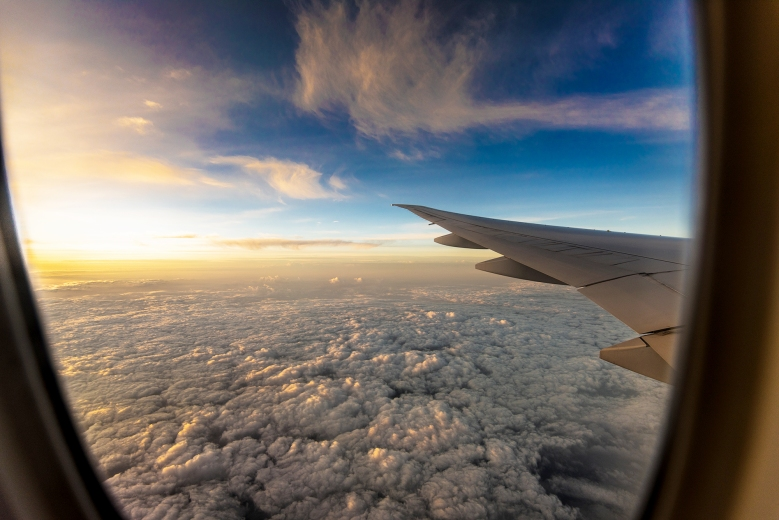 Sunset Wing View