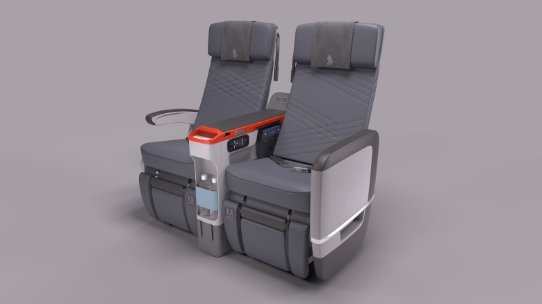 Which Singapore Airlines flights have a Premium Economy cabin?