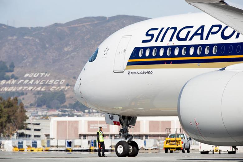 SQ A350 SFO (Sinagapore Airlines)